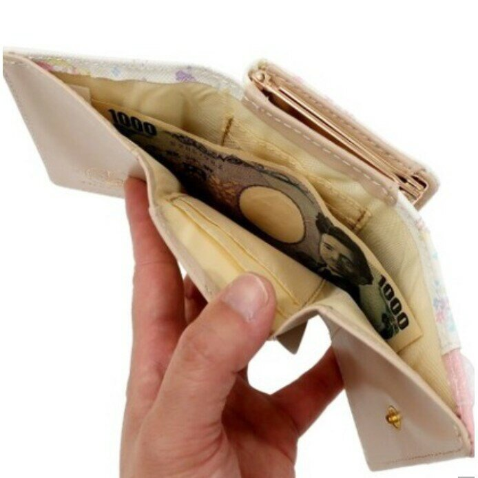 雙子星 Kiki&Lara Sanrio 三麗鷗 日本製 皮夾 皮包 三折夾 零錢包 日本代購