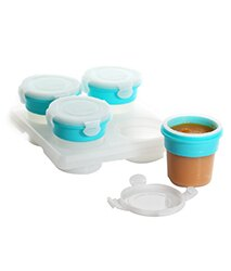 小烏龜精品童裝店:2angels台灣設計製造矽膠副食品儲存杯-120ml(四入)