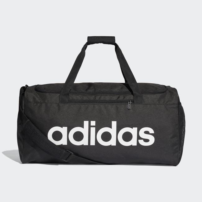 【毒】adidas LINEAR CORE DUFFEL 黑色手提袋 大LOGO 旅行袋 DT4819