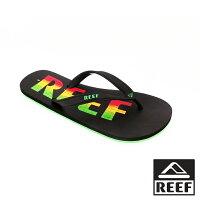 【新品上市】REEF 字樣基本款橡膠 舒適好穿防滑耐磨 男款夾腳人字拖鞋 . 多彩字 RF0A2YFTRBK-REEF-潮流男裝