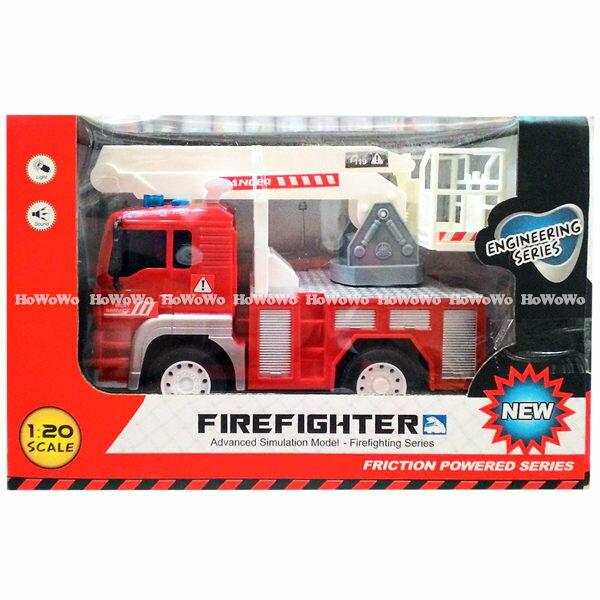 慣性聲光工程車-消防車  69843