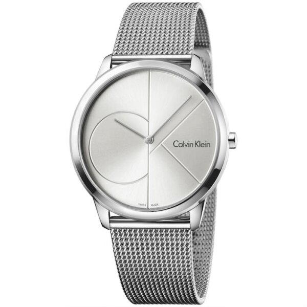 CKCalvinklein卡文克萊Minimal系列(K3M2112Z+K3M2212Z)時尚LOGO米蘭腕錶白面40+35mm