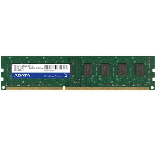 【新風尚潮流】威剛桌上型記憶體 8G DDR3-1600 穩定性高 終身保固 AD3U1600W8G11-R