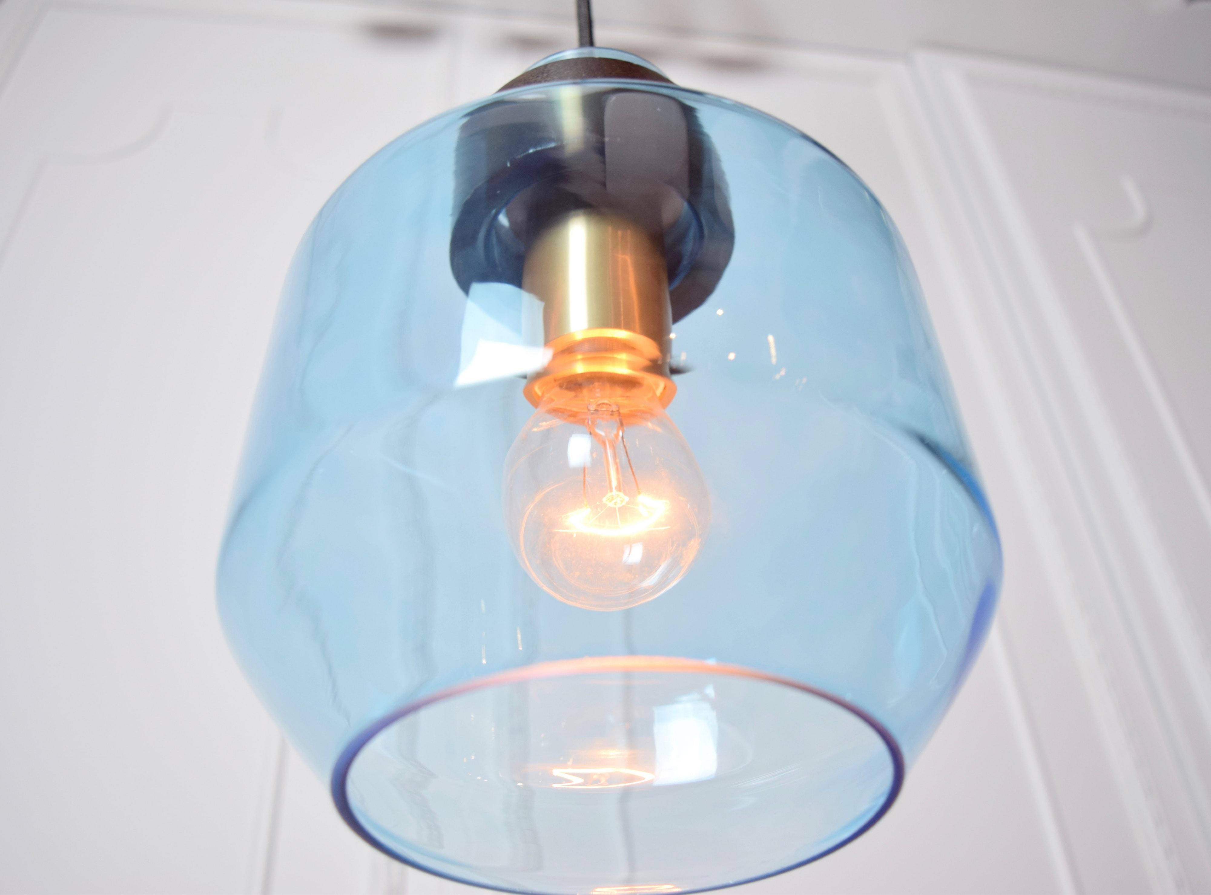 水藍色寬酒瓶造型吊燈-BNL00122 3