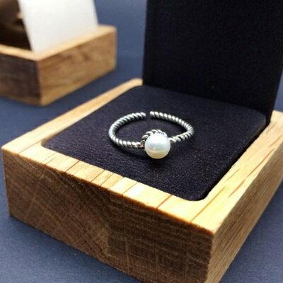 ~925純銀戒指珍珠銀飾~精緻小巧優雅 生日情人節 女飾品73ic80~ ~~米蘭 ~