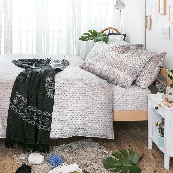 床包雙人加大【簡約主義】科技天絲,含兩件枕套,戀家小舖