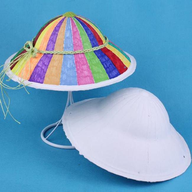 紙面具 斗笠 越南帽 草帽 畫臉 白面具 空白面具 DIY 白色面具【塔克】