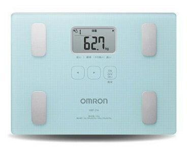 OMRON歐姆龍體脂肪機 HBF-216(藍色),限量加贈歐姆龍運動毛巾及專用提袋