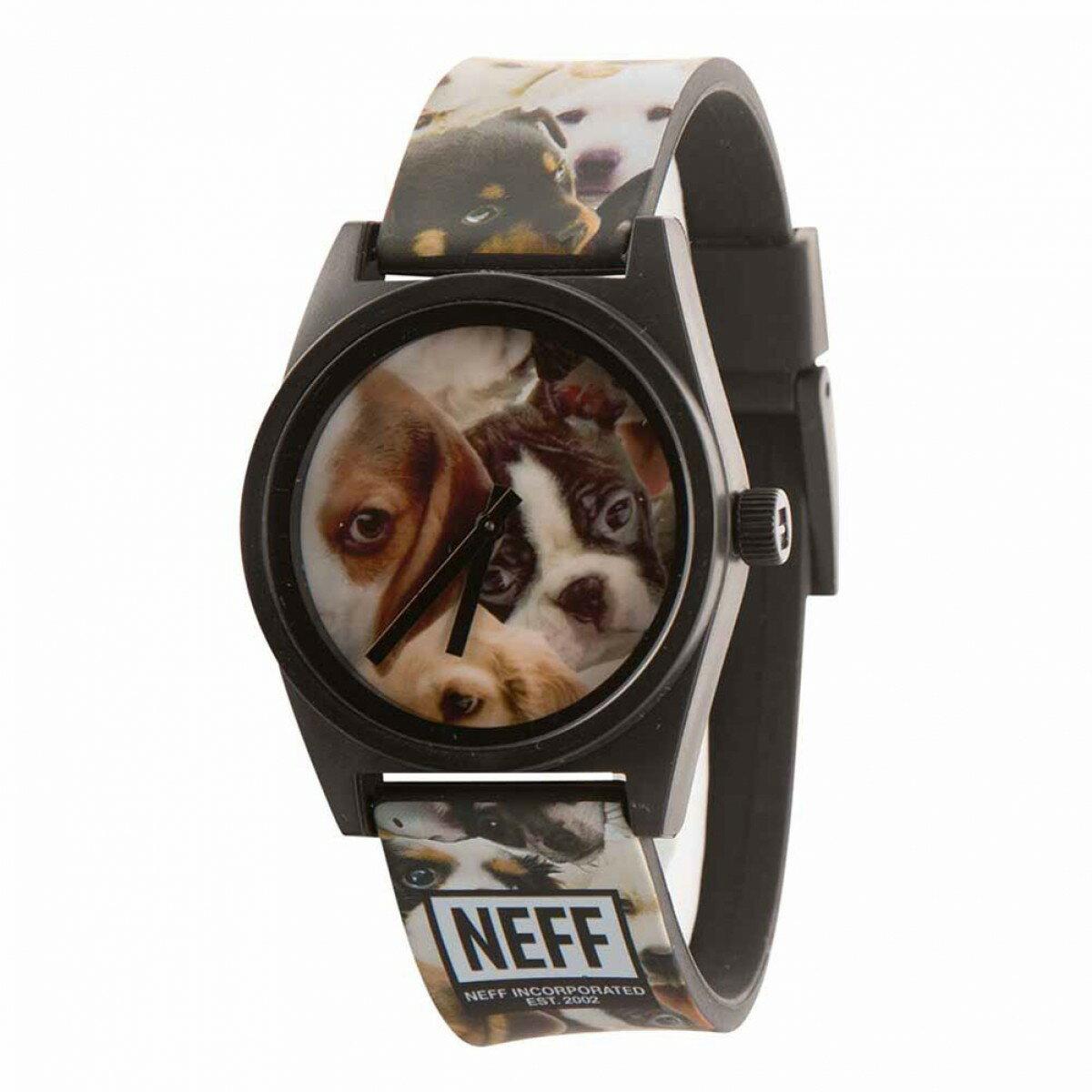 BEETLE NEEF DAILY WILD WATCH 狗狗 滿版 黑色 指針錶 手錶 圓錶 防水 - 限時優惠好康折扣