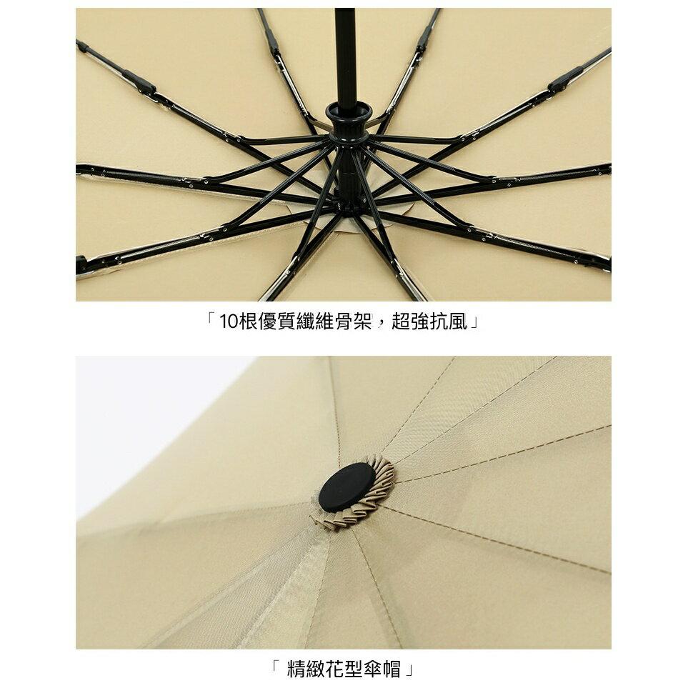 【現貨免等】復古實木手柄雨傘 自動傘 折疊傘【UBAAST23】 6