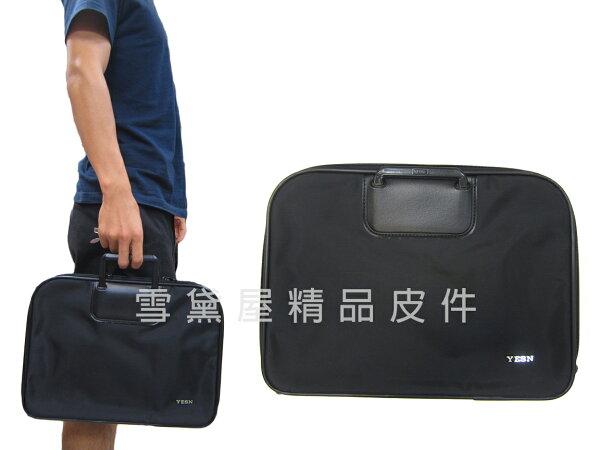 ~雪黛屋~YESON手拿包大容量簡易型手提可放A4資料夾公文包高單數防水尼龍布輕便手拿手提分類袋台灣製造Y705L