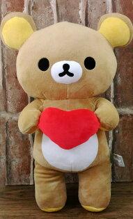 【真愛日本】17120500004全身抱愛心-40cm懶熊San-X懶懶熊玩偶絨布娃娃