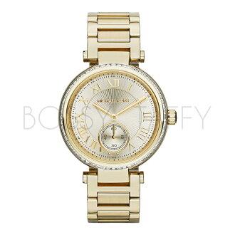 MK5867 MICHAEL KORS 時尚女錶羅馬字奢華金鑲鑽手錶