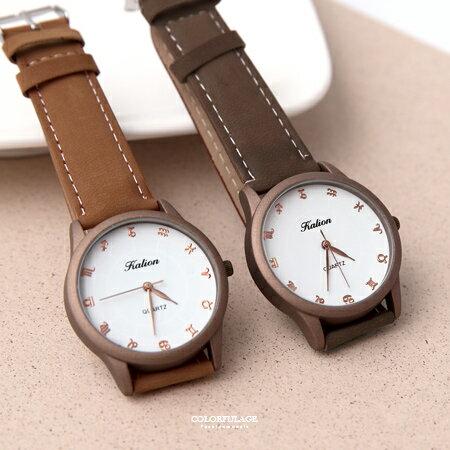 手錶 12星座刻度霧色腕錶 柒彩年代【NE1902】單支