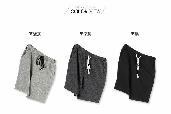 ☆BOY-2☆【NQ91005】棉褲  素面簡約抽繩短褲 1