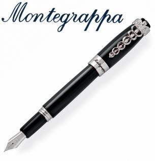 義大利Montegrappa萬特佳Caduceus財富醫生筆系列-鋼筆(黑)ISFOM_YC支