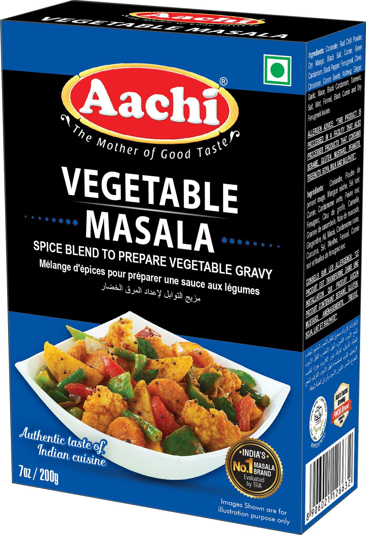 蔬菜咖哩粉  Vegetable Masala AACHI 200gm