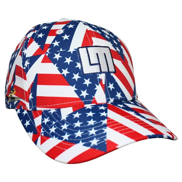 騎跑泳者FINISHER:LOUDMOUTH英國高爾夫服飾品牌-美國國旗休閒運動帽
