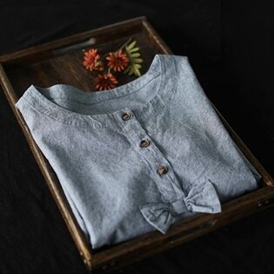 短袖T恤打底衫-清新可愛蝴蝶結條紋女上衣73sj15【獨家進口】【米蘭精品】