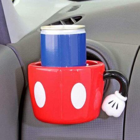 日貨NAPOLEX 正版米奇汽車用飲料架 冷氣孔置物架 水杯架 手機架 迪士尼 米妮【N201111】