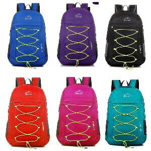 美麗大街【LFL20】戶外登山包可折疊雙肩包跑步運動雙肩背包防水旅行包