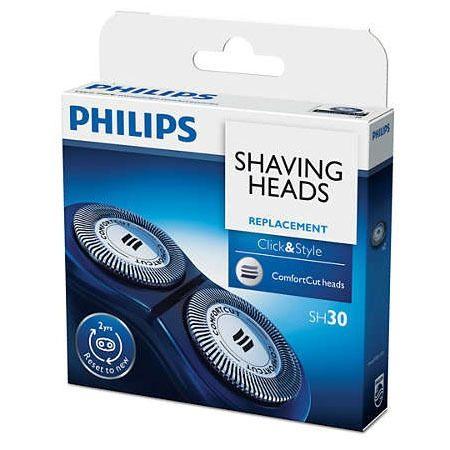 PHILIPS 飛利浦 刮鬍刀替換刀頭SH30(一盒2顆)~適用 S560 / S510 / S360 / S300