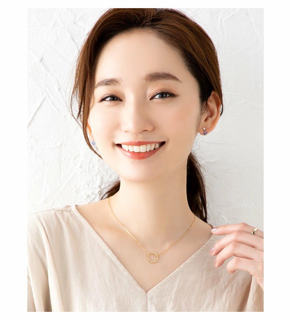 日本Cream Dot  /  槌面圓環項鍊  /  p00017  /  日本必買 日本樂天代購  /  件件含運 1