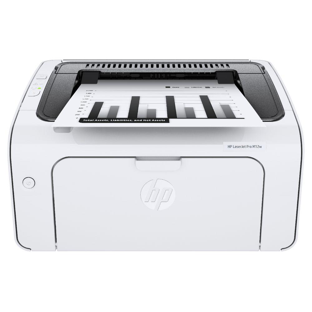 【滿3千10%回饋】HP LaserJet Pro M12w 個人黑白雷射印表機(T0L46A)