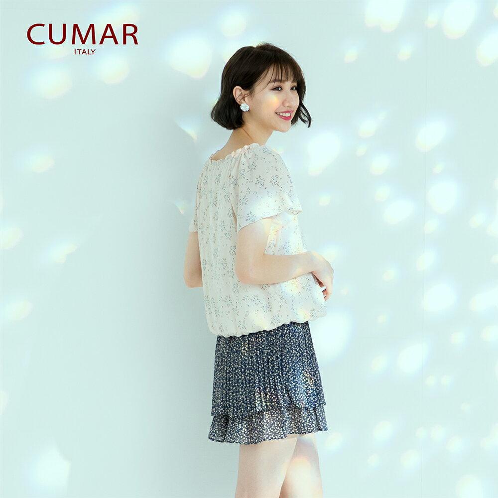 【CUMAR】休閒典雅印花-襯衫(二色) 1