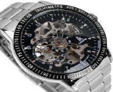 正品IK雙面鏤空全自動機械表熱款飛龍透底男表個性男士手錶