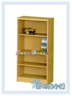 ╭☆雪之屋居家生活館☆╯AA554-06B-02白橡木書櫃(美背式)置物櫃收納櫃展示櫃附活動隔板2片含門內一片