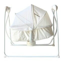 BabyBabe-嬰幼兒MP3音樂電動搖床【新品特價】