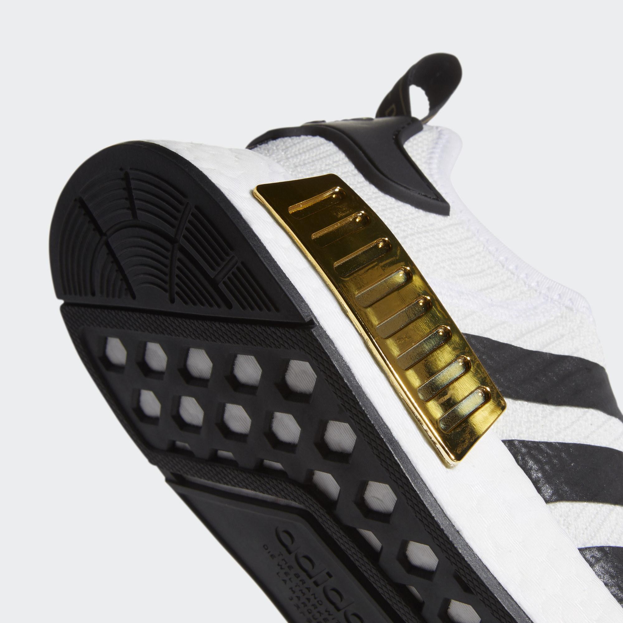 【ADIDAS】NMD R1 白黑金 BOOST 休閒 運動 慢跑鞋 男款 EG5662(palace store) 4