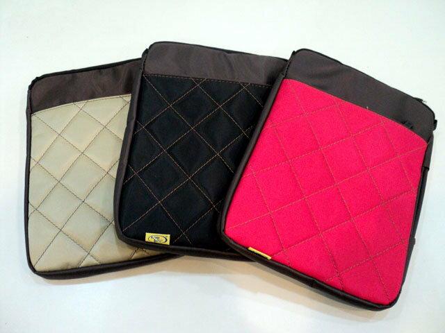菱格紋手提電腦包 平板電腦包 電腦包 斜背包 手提包 筆電包 多 包 平板包 10吋 可斜
