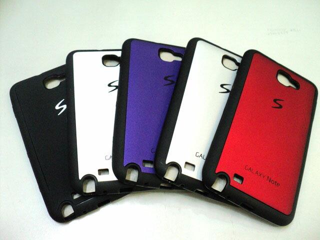 SAMSUNG Note N7000 i9220 專用 皮革紋 雙料保護套 保護殼 保護套 手機套 背蓋 背殼 軟殼 TPU軟膠邊框