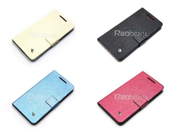 S4mini手機套Redberry水絲紋系列SAMSUNGS4minii9190手機側掀保護皮套便攜錢包側開側翻磁扣軟殼背蓋可站立TIS購物館
