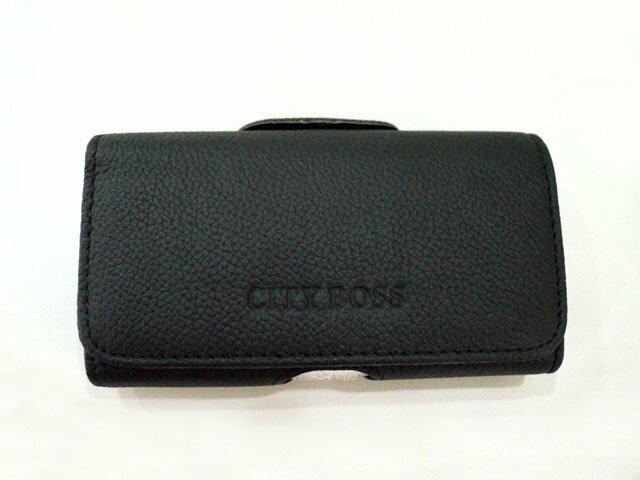 5吋 5.2吋 適用 CITY BOSS*真皮 全蓋式 橫式掛腰 優質 手機 皮套 消磁 腰夾 手機適用/Sony Xperia Z/Z1/Z2/Z2A D6503/HTC One M8/iPhone..