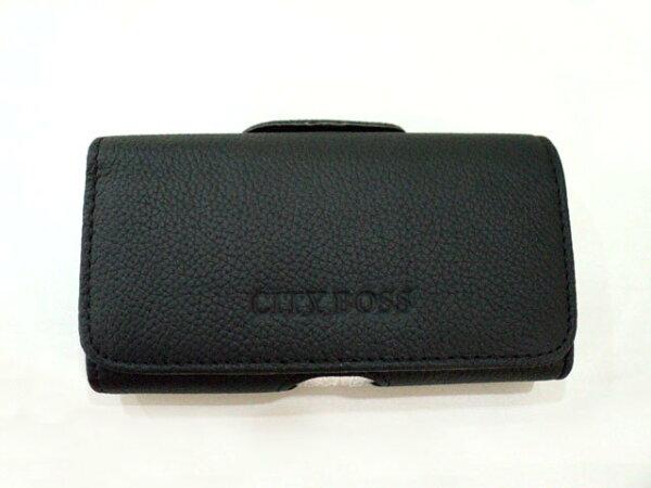 Samsungi9152i9150GalaxyMega5.86吋適用CITYBOSS*真皮全蓋式橫式掛腰優質手機皮套消磁腰夾手機適用