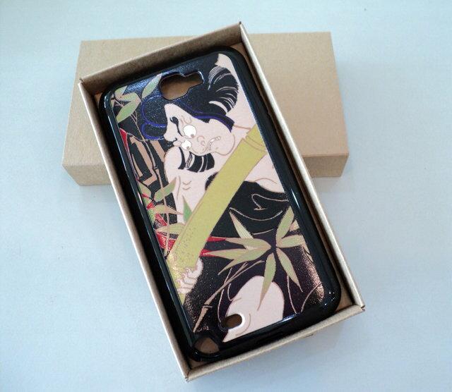 Samsung GALAXY Note2 N7100 特製 手機背蓋*局部 立體 浮雕 保護殼/手機殼/手機保護套/TPU/背蓋 日本 武士 神鬼 奪魂