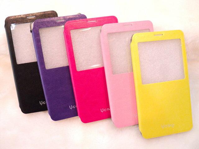 感恩回饋價 U case*Samsung Galaxy Note3 透視感應皮套/視窗/感應觸控/側掀/保護套/側開/掀蓋式/側翻/手機套/NOTE 3 N7200 N9000 N9005