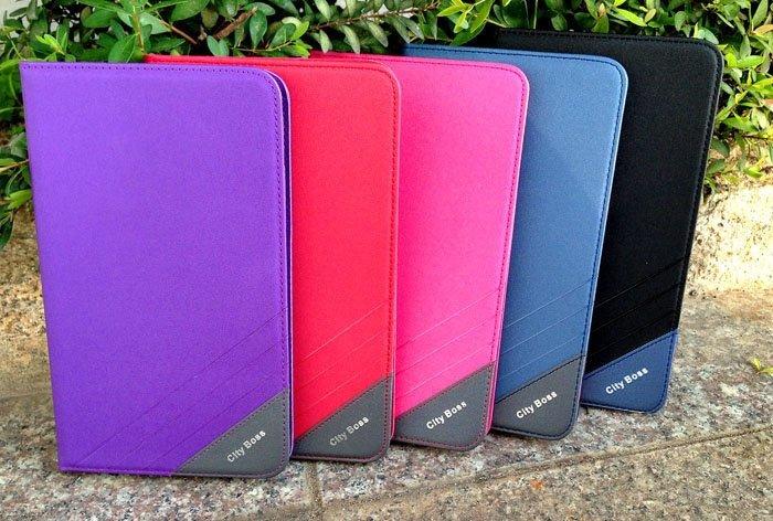 Tab4 7.0 平板保護套 CITY BOSS 渴望系列 三星 Samsung Galaxy  Tab 4 T231 T235 7吋平板側掀皮套/磁扣/磁吸/側翻/側開/保護套/背蓋/支架/TIS購物館