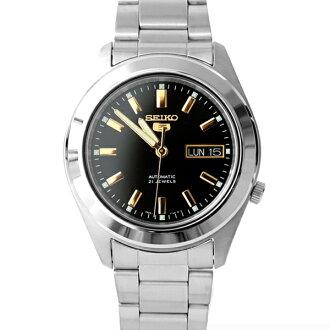 手錶 SEIKO黑金機械錶【NES6】柒彩年代