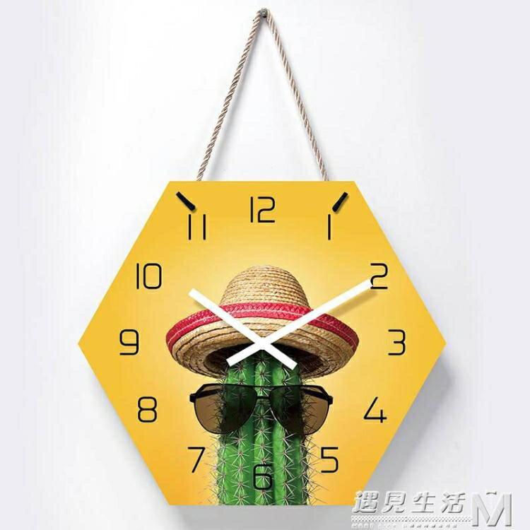 [樂天優選]北歐掛鐘客廳裝飾創意時鐘掛墻現代簡約超靜音臥室家用鐘表免打孔