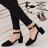 ★399免運★格子舖*【KDWA901】MIT台灣製 經典時尚質感素面皮革 尖頭粗高跟鞋 繞踝瑪莉珍鞋 4色 0