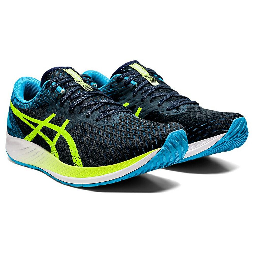 【滿額最高折318】ASICS HYPER SPEED 男鞋 慢跑 馬拉松 透氣 輕量 藍 綠【運動世界】1011B025-400