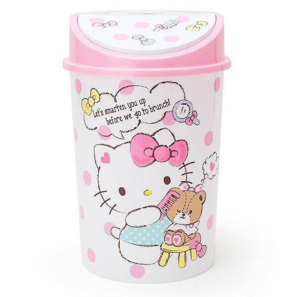 X射線【C974896】Hello Kitty 垃圾桶附蓋,垃圾筒/雜物桶/水桶/分類桶/資源回收桶/廚餘桶