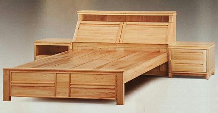【尚品傢俱】919-05 全實木日本檜木床頭櫃/二抽床邊儲物櫃/2抽床旁收納櫃/兩抽床側置物櫃/貳抽床沿貯藏櫃
