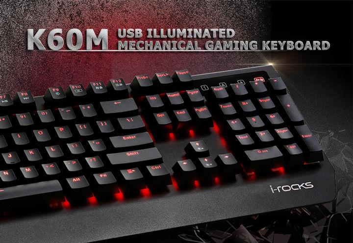 ☆宏華資訊廣場☆艾芮克 i-Rocks K60M 凱華軸金屬機械式 電競鍵盤 銀黑 銀白 全黑