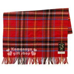限量下殺↘3980〔小禮堂〕Kitty 100%羊毛圍巾 披肩《紅蘇格蘭紋》Lochcarron 蘇格蘭製造 生日慶系列