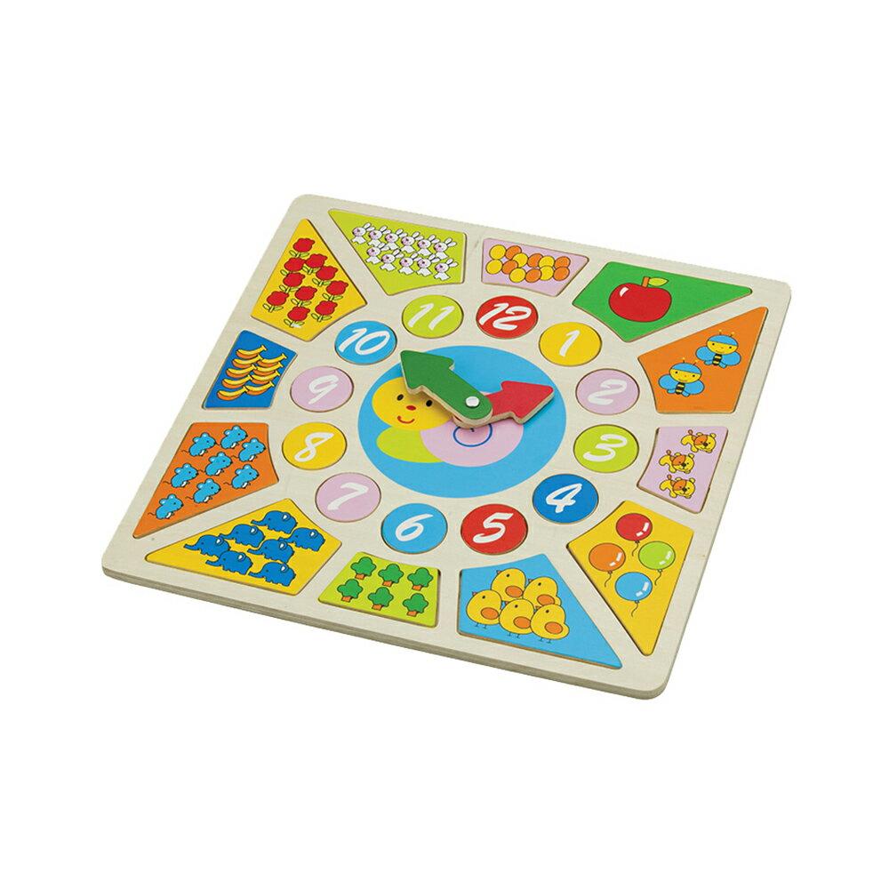 荷蘭木製認知學習時鐘拼圖 New Classic Toys
